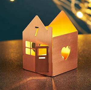 Personalised, Metal, House, Tea, Light, Holder, By, Oakdene, Designs