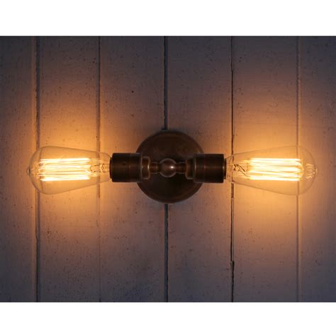 Vintage Industrial Twin Wall Light