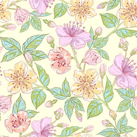 Florale Muster Kostenlos by Seamless Floral Pattern Vector Free
