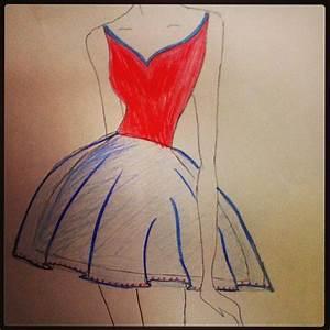 Fashion sketch - prom dress | Fashion sketches | Pinterest