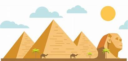 Egyptian Clipart Pyramid Egypt Ancient Children Footer