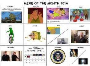 Calendar 2016 Meme