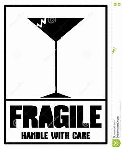Fragile Label In Black Isolated Stock Vector - Image: 74286624