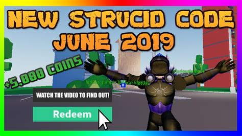 strucid codes june  roblox youtube