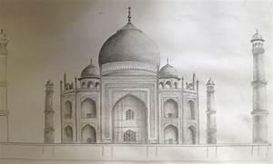 Pencil Sketch Of Taj Mahal   www.pixshark.com - Images ...