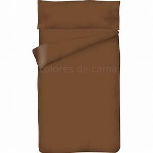 Housse De Couette Marron : parure de couette marron chocolat unie housse de couette taie d oreiller ~ Teatrodelosmanantiales.com Idées de Décoration