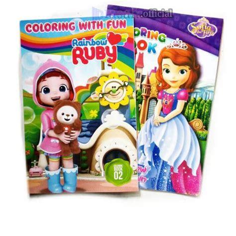buku belajar keterilan mewarnai anak karakter coloring