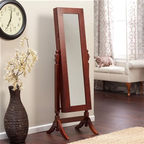 length mirror jewelry armoire length tilting cheval mirror jewelry armoire in