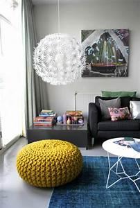Pouf Jaune Moutarde : le pouf au crochet confort et beaut la maison ~ Teatrodelosmanantiales.com Idées de Décoration