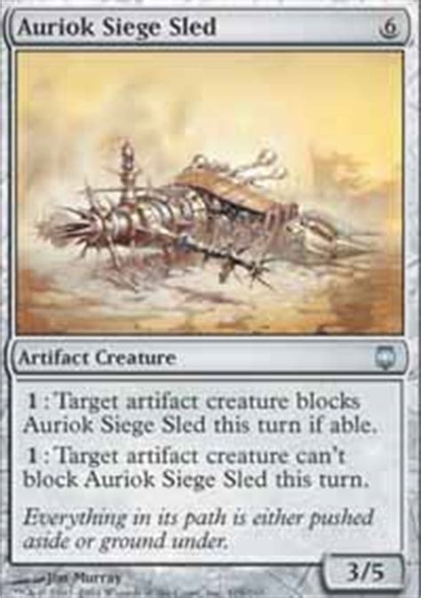 Mtg Sle Deck List by Auriok Siege Sled Darksteel Magic The Gathering