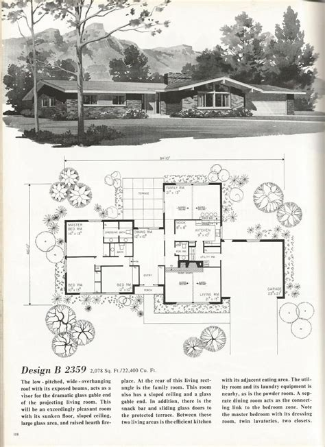 vintage house plans luxury contemporary homes mid century modern house plans mid century