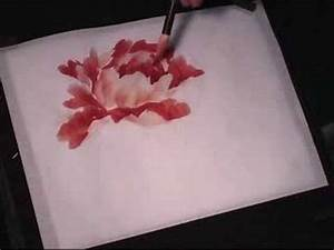 Hot-red Peony - a Chinese Painting Tutorial - YouTube