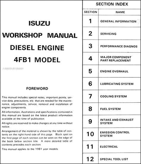 Isuzu Mark Diesel Engine Chassis Repair Shop