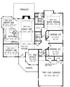 houses with floor plans tucson contemporary ranch home plan 016d 0044 house plans and more