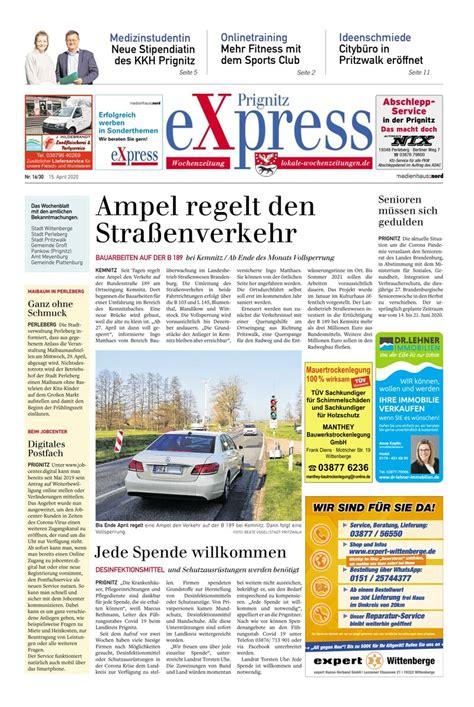 prignitz express  paper lokale wochenzeitungen
