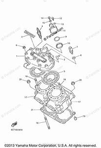 Yamaha Snowmobile 2000 Oem Parts Diagram For Cylinder Head