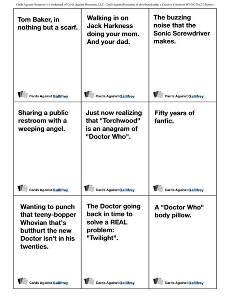 awesome kitchen knives cards against humanity the who edition