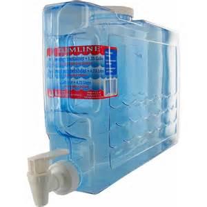 blue kitchen canister arrow plastic mfg co 00745 1 25 gallon slimline beverage