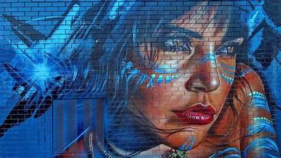 Graffiti Texture Wall Street Wallpapers Face Woman