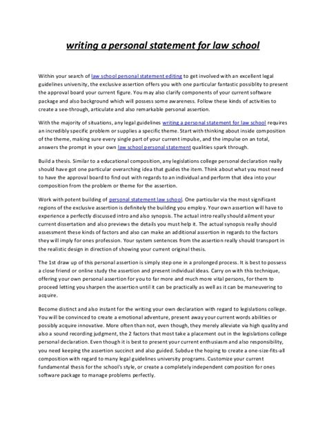 How To Write A Personal Summary For A Resume by Writing A Personal Statement For School