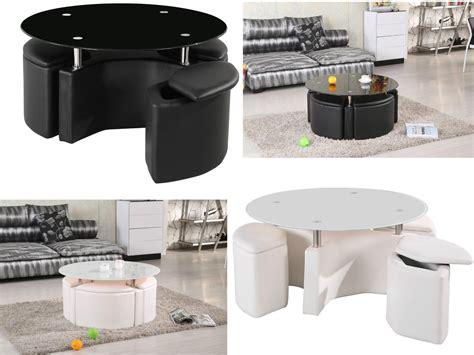 milano black coffee table milano chrome glass coffee table with 4 ottoman storage