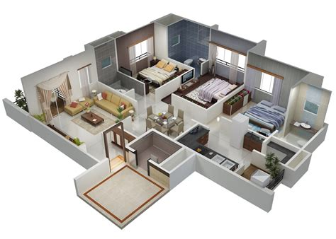 3 Bhk Home Design : 3 Bhk House Plan Images