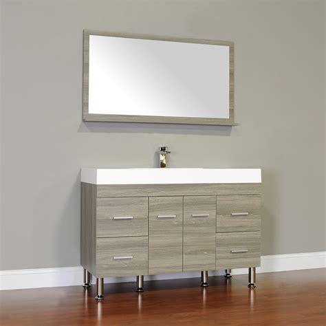 bath vanities alya at 8042 g 47 quot single modern bathroom vanity gray