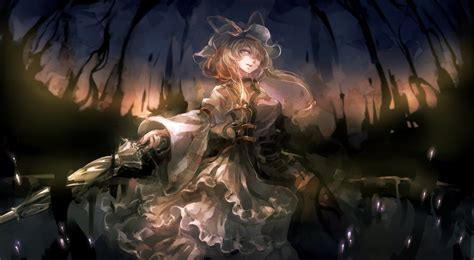 Anime Girl Witch Wallpaper 60mai Dress Touhou Umbrella Yakumo Yukari Wallpaper