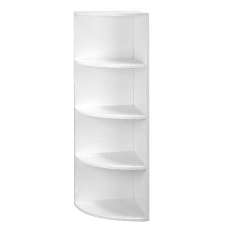 White Wall Shelf Unit by 5 Tier White Wall Mounted Corner Shelf Storage Shelving