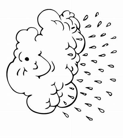 Cloud Coloring Pages Printables Weather Momjunction Seasons