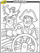 Coloring Pages Pirate Pirates Ship Crayola Colouring Sheets Helm Fun Adventure Printables Homework Worksheets Folder Preschool sketch template