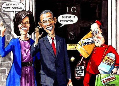 obama cartoon cameron visit political cartoonist gary barker cartoons