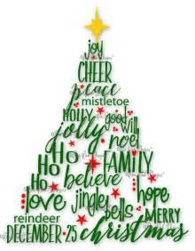 Christmas Word Art SVG