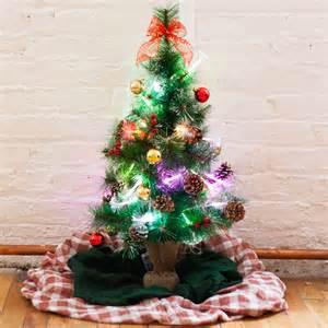 lights com lit decor seasonal urban pre lit 32 quot mini christmas tree with decorations
