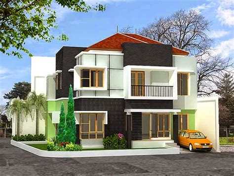 contoh desain rumah minimalis modern  lantai terbaru