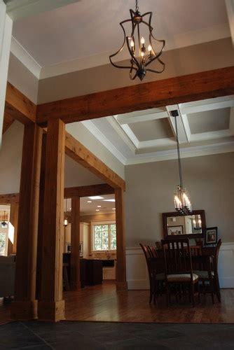 entryway  cedar beams olde south homes pinterest