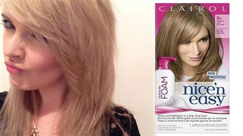 Clairol Nice N Easy Foam Hair Dye Review And Step By Step