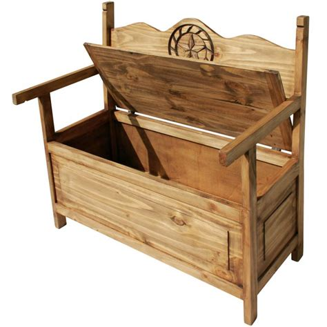 rustic storage bench rustic pine collection storage bench ban517