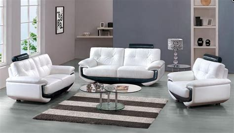 leather look sofa set white leather sofa set with black accents miami florida