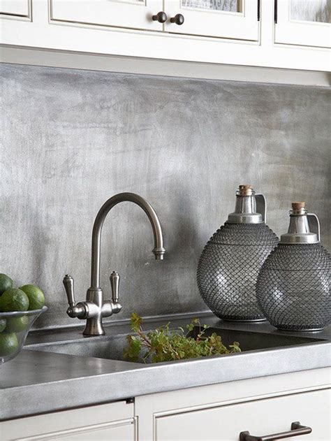 chic metallic kitchen backsplash ideas shelterness