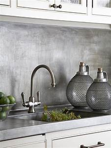 Interior design trend industrial design for Kitchen colors with white cabinets with brushed aluminum wall art