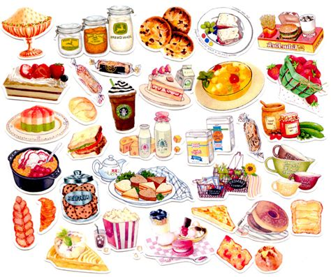 stickers vitres cuisine aliexpress com buy 40pcs self made food bread desert