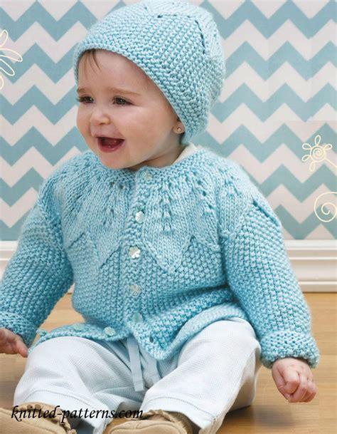knitting baby sweater baby cardigan and hat knitting pattern free