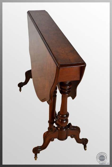 vintage drop leaf side table antique burr walnut sutherland drop leaf folding