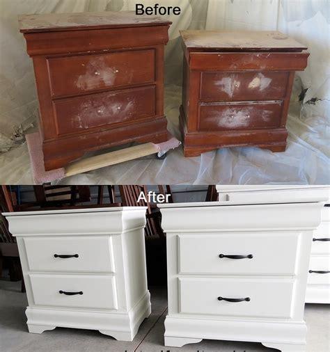comment repeindre un bureau en bois meuble en bois repeint avant apres 9 bricobistro