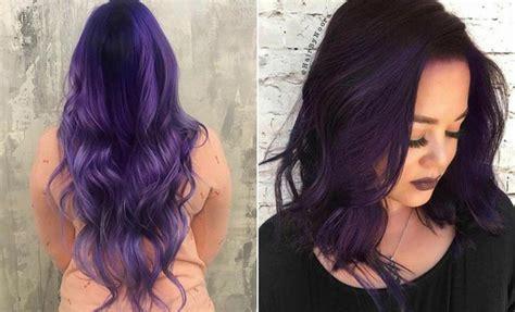 21 Bold And Trendy Dark Purple Hair Color Ideas
