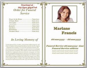 funeral pamphlet templates editable in word in classic With obituary pamphlet template