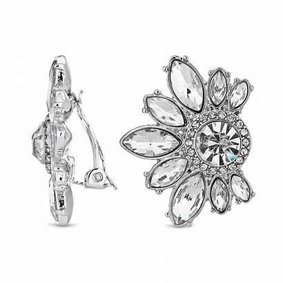 Cluster Crystal Clip Debenhams Earrings Designer