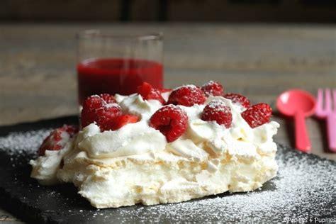 recette de cuisine sans gluten pavlova aux fraises et framboises