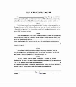 last will and testament samples and templates With sample of a last will and testament template
